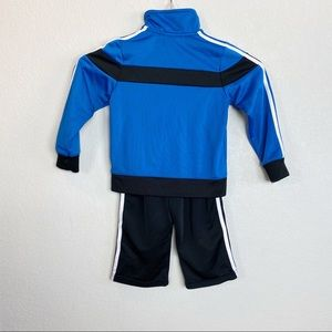 adidas Matching Sets - Adidas Black & Blue Track Suit 24 Month